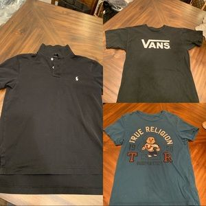 3 Tee T-shirt Polo Vans Ture Religion Tee black